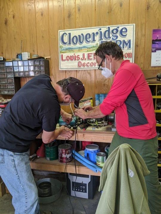 September 17, 2020: John and Kike work on a camera system.