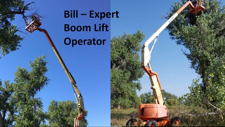 Bill Heston, expert boom operator