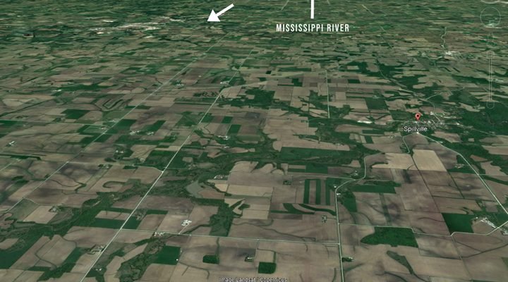 The view from Spillville, IA at two miles up